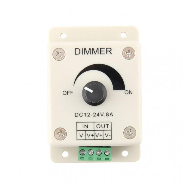 Led Driver Dimmer 12v-24v giris 0v-24v cikis dimmer 8A