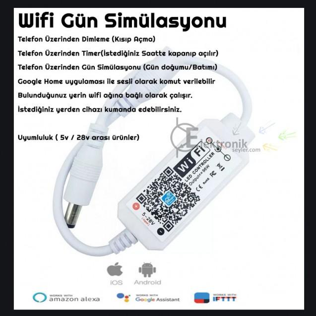 ES Telefondan Kontrollü Akvaryum Gün Simulasyon Cihazi