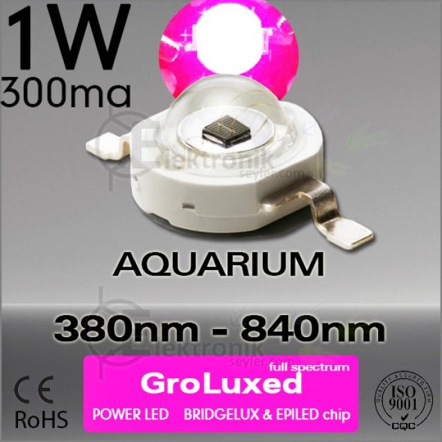 ES-LED 1W Full Spectrum Gro 380nm-840nm Bridgelux