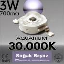 Power Led 3W 30.000K Bridgelux Soğuk Beyaz