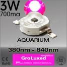 ES-LED 3W Full Spectrum Gro 380nm-840nm Bridgelux