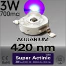 LED 3W Super Actinic 420nm Bridgelux