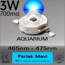 LED 3W Mavi 465nm-475nm Bridgelux