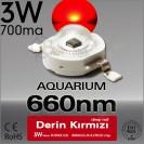 LED 3W Koyu Kırmızı 660nm Bridgelux