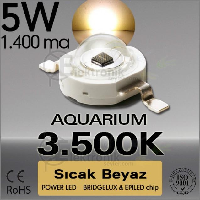 LED 5W Beyaz White 3000K-3500K Bridgelux