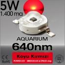 LED 5W Koyu Kırmızı 640nm Bridgelux